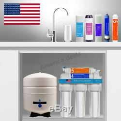 5 Stage Reverse Osmosis Water System Home Drinking RO System + NSF Membrane Tank