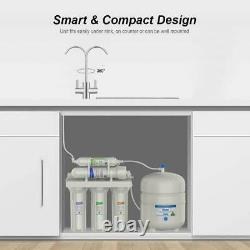 5 Stage Under Sink Reverse Osmosis Water Filter System 75GPD Extra 3 Year Filter