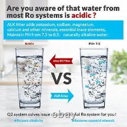 5-Stage Undersink Reverse Osmosis Alkaline Mineral Water Filter System 75 GPD