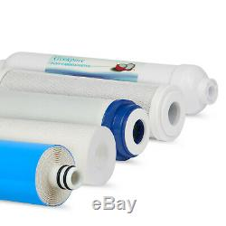 5 Stage Undersink Reverse Osmosis Water Filter System Plus Extra 7 Filters 75GPD