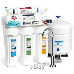 5 Stage Undersink Reverse Osmosis Water Filtration System 50 GPD Membrane Filter