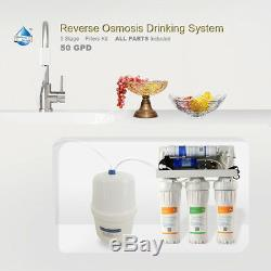 5 Stage Whole House Reverse Osmosis Water System RO Home Dispenser + FILTERS Top
