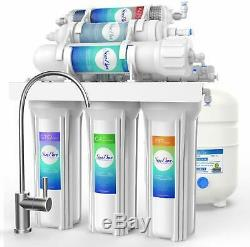 6Stage 100GPD UnderSink Alkaline RO Drinking Water Filter Reverse Osmosis System
