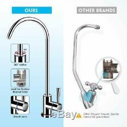 6Stage Undersink Reverse Osmosis RO System Drinking Water Filter 75G Alkaline pH