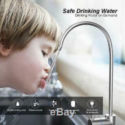 6Stage Water Reverse Osmosis Alkaline Water Filtration System 75GPD Superb Taste