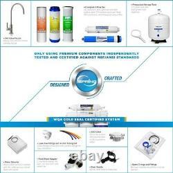 6-Alkaline Stage Reverse Osmosis Drinking Water Filtration System, WQA Gold Seal