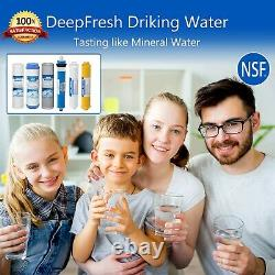 6 Stage 75GPD Reverse Osmosis Alkaline Water Filter RO System with NSF Certified