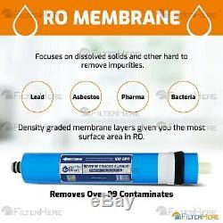 6 Stage Aquarium RO/DI Zero TDS Water Filter System 100 GPD