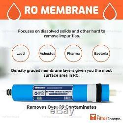 6 Stage KDF/ pH Alkaline (Antioxidant) Reverse Osmosis Water System 75 GPD