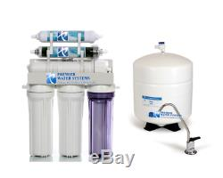 6 Stage RODI Reverse Osmosis Water Filtration System 100GPD +DI +Permeate Pump