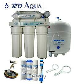 6 Stage RO Water Filter System with 75 GPD Membrane