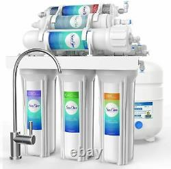 6 Stage Reverse Osmosis System 75G Drink Water Filtration System 14 Extra Filter
