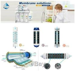 6 Stage Reverse Osmosis System Drinking Water Filter Alkaline Mineral pH 100 GPD