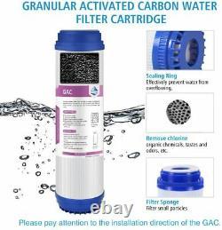 6 Stage Reverse Osmosis System RO Water Filter 50GPD RO Membrane Cartridges Set