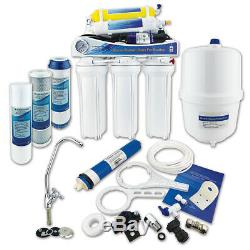 6 Stage Reverse Osmosis System RO with Remineral Filter & Pump by Finerfilters