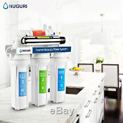 6 Stage Reverse Osmosis System With Ultraviolet Sterilizer UV Water Filter 75GPD