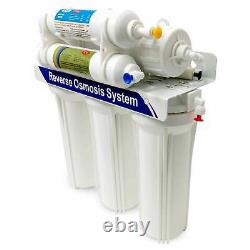 6 Stage Reverse Osmosis Water Filter System 10 RO Membrane Undersink Purifier