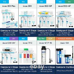 6 Stage Standard UnderSink Reverse Osmosis System With UV Water Filter 75GPD