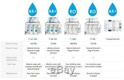 6-Stage Under Sink Reverse Osmosis Drinking Water Filter System Alkaline pH 100G