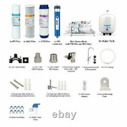 6 Stage Undersink Reverse Osmosis System Water Filter with Mineral Filter 100GPD