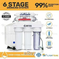 6 Stage pH Alkaline Reverse Osmosis Home Drinking Water Filter System