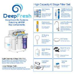 6 Stage pH+ Reverse Osmosis Alkaline Water Filter RO System with NSF Certified