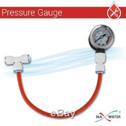 6 Stages 100 GPD Aquarium Reverse Osmosis System RO DI + HM Inline TDS Meter