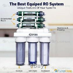 7 Stage 0 PPM Heavy Duty Aquarium RO/DI Water Filter System 150 GPD