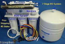 7 Stage 150 RO DI UV Reverse Osmosis Water Filter System Tank Aquarium White