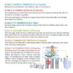 APEX MR-7050 7 Stage 50 GPD UV Alkaline pH+ Reverse Osmosis Water Filter System