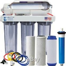 Alkaline Reverse Osmosis Water Filter Core System 150 GPD. Made in the U. S. A
