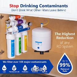 Alkaline Ultraviolet Reverse Osmosis Filtration System RO with Gauge 100 GDP