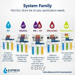 Alkaline Ultraviolet Reverse Osmosis Water Filtration System with Pump 100 GPD