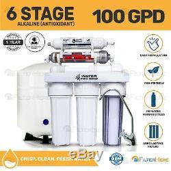 Antioxidant 6 Stage KDF/ pH Alkaline Reverse Osmosis Water System 100 GPD