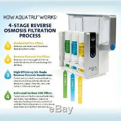 AquaTru Countertop Water Filter Purification System with Exclusive 4 Stage