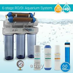 Aquarium Reef Coral Reverse Osmosis System 100GPD Pure 0 PPM RO DI Water Filter
