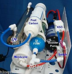 Clear Reverse Osmosis System 24/35/50gpd 7 Stage RO/DI/UV/Booster