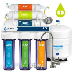 Deionization Reverse Osmosis Water Filtration System Clear with Gauge 100 GPD