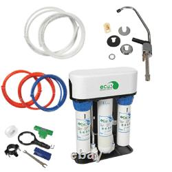 Eco3 Complete Reverse Osmosis System With Tank, Faucet, Covers Install Parts