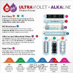 Express Water 11-Stage Reverse Osmosis Filtration System UV Ultraviolet Alkaline