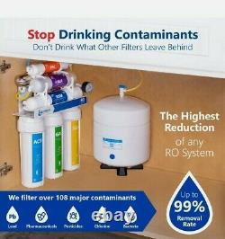 Express Water UV Reverse Osmosis RO Filtration System 11 Stage, Gauge, 100 GDP