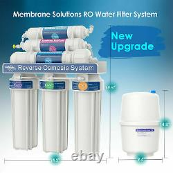 Faucet Water Filter System Purifier 100GPD 6 Stage Alkaline Reverse Osmosis T1/2