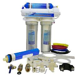 Finerfilters 4 Stage Aquatic Reverse Osmosis System RO & DI Unit 100GPD