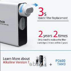 Frizzlife RO Reverse Osmosis Under Sink Water Filter System- 600GPD Tankless