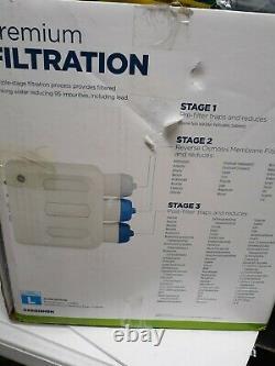 GE GXRQ18NBN 3-Stage Under Sink Reverse Osmosis Water Filtration System