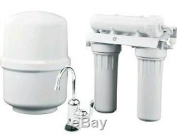 GE Reverse Osmosis Water Filtration System Filter Under Sink Faucet Lead White