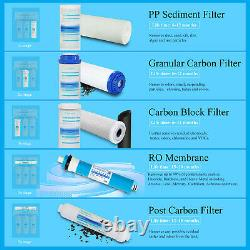Geekpure 5 Stage Reverse Osmosis System Water Filter 75 GPD with Booster Pump