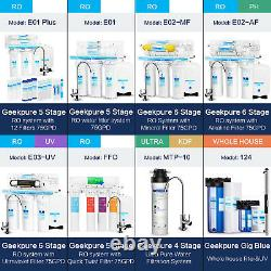 Geekpure 5 Stage Reverse Osmosis System with Quick Twist Change Filter 75 GPD