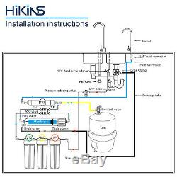 HiKiNS 5-stage Reverse Osmosis System 125G Under Sink Ro Water Filtration System