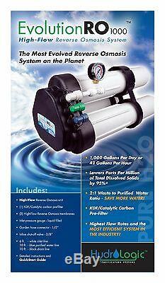 HydroLogic Evolution RO 1000 GPD Reverse Osmosis System Water Filter Hydro Logic